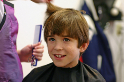hair-cut boy